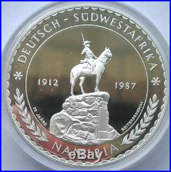 Namibia 1987 Elephant German Colonial 5oz Silver Coin, Proof