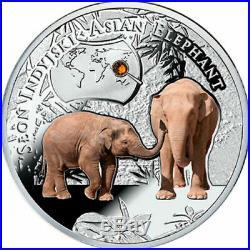 Niue 1 Dollar Asian Elephant 2016 Proof Silver Coin