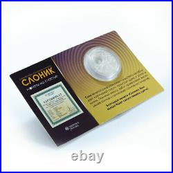 Niue 1 dollar Coins for Luck Elephants luck silver proof coin 2011