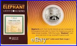 Niue 2011 2$ Elephant Lucky Coins Series Proof Silver Coin Good Luck Love
