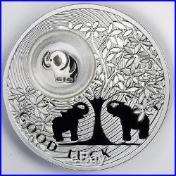 Niue 2011 2$ Lucky Coins ELEPHANT Silver Coin 28,28g