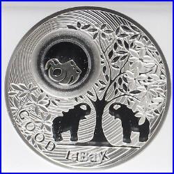 Niue 2011 Good Luck Elephant Baby Silver Coin NGC 69