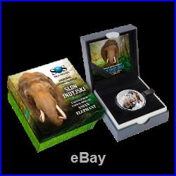 Niue 2016 1$ Endangered Animal Species Asian Elephant 1/2 oz Proof Silver Coin