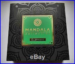 Niue Îles 2019 5 Dollar 2 oz Argent Mandala Collection Éléphant Antique Finis