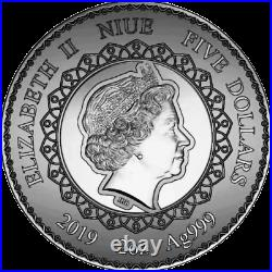 Niue Island 2019 Elephant Mandala Art Series 2 oz silver coin