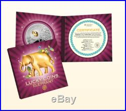Niue Islands 2012 $2 Lucky Coins Elephant 28,28 LIMITED Silver Coin