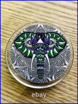 Pièce Elephant Mandala Art 2 Oz 5$ 2019