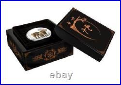 RARE 2015 Nuie feng shui ELEPHANTS 1 OZ. 999 silver proof coin COA Box GIFT