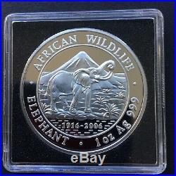 Rare key date 2006 Somalia 1 oz silver Elephant coin (BU)