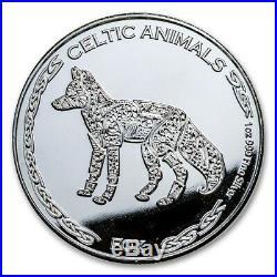 Republic of Chad Celtic Fox, Horse, Mandala Elephant 1 oz Silver BU Collection