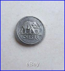 Rome Ancient Silver Denarius Julius Caesar AR Denarius Coin 48 BC Elephant Snake