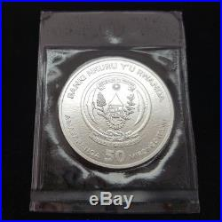 Rwanda 50 Francs 2009 African ounce Elephant rare 1 oz silver 999 coin