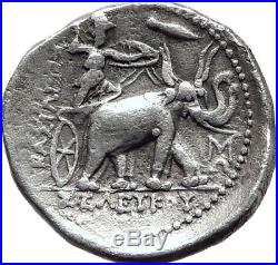 SELEUKOS I Nikator 312BC Seleukid Tetradrachm ELEPHANTS Silver Greek Coin i65235