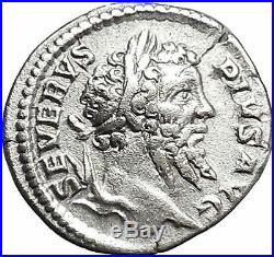 SEPTIMIUS SEVERUS 207AD AFRICA Elephant Lion Ancient Silver Roman Coin i46546