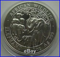 SOMALIA 2008 100 SHILLINGS ELEPHANT 1 Oz 999 BU SILBER SILVER