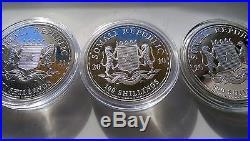 Somalia Elephant Fine Silver Wildlife Series Full Set 2004=2017