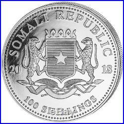 SOMALIA SILVER ELEPHANT DAY & NIGHT SET 2018 2 X 1 oz Silver Coins COA #1