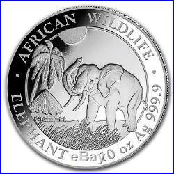 SOMALIE 1 000 Shillings Argent 10 Onces Elephant 2017 10 Oz silver coin