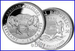 Silver Coin Somalia Elephant -1 Kilo 1 KG 2020