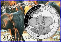 Silver Coin Somalia Elephant -1 Kilo 1 KG 2021 Elephant 1000 Gr