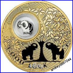 Silver Elephant Coin for Good Luck