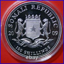 Somalia 100 Shillings 2009 African Wildlife Elefant #F3787 ST-BU Gold gildet
