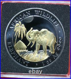 Somalia 100 Shillings 2017 African Wildlife #F3249 Enigma Black Ruthenium