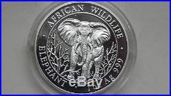 Somalia 2004 Elephant silver BU coin