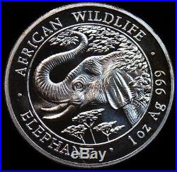 Somalia 2005 100 Shillings Elephant Silver Gem BU Coin. RARE DATE