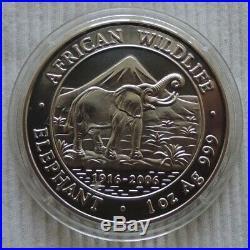 Somalia 2006 Elephant 1 oz silver coin African Wildlife elefant silber unze