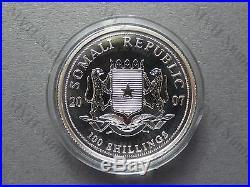 Somalia 2007 African Wildlife Elephant 1Oz Silver Coin BU Coin