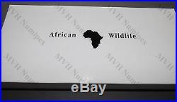 Somalia 2014 African Wildlife Elephant 3,75 Oz Silver Proof Set of 4 Coins