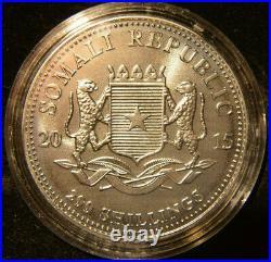 Somalia 2015, Afr. Wildlife Elephant, Golden Enigma, 3,75 oz Silver Coins