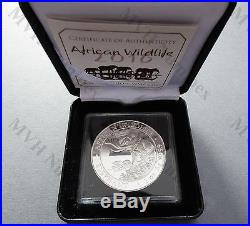 Somalia 2016 African Wildlife Elephant 1 Oz Silver coin privy WMF Berlin rare