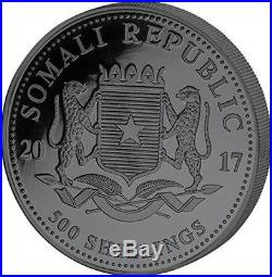 Somalia 2017 500 Shillings Golden Enigma Elephant 5 Oz Silver Coin