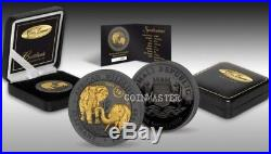 Somalia 2018 100 Shilling 15 ANNIV. AFRICAN ELEPHANT Ruthenium 1 Oz Silver Coin