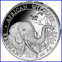 Somalia Elefant 2018 2 OZ Unzen Silber Silver Argent African Wildlife Elephant
