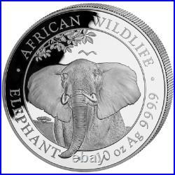 Somalia Elefant 2021 African Wildlife Elephant 10 OZ Silber Silver Argent