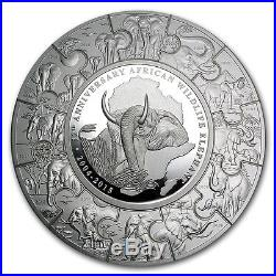 Somalia Elephant 12th Anniversary Puzzle 2004 2015 1 kg kilo. 999 Silver Coin