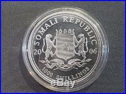 Somalia-Elephant-2006-1-oz-SILVER-Gold-Gilded-coin-African-Somali-Elefant Soma