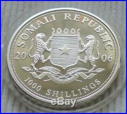 Somalia Elephant 2006 1 oz silver coin Ag999 1000 shillings elefant silber unze