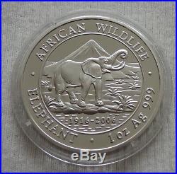 Somalia Elephant 2006 1 oz silver coin Ag 999 1000 shillings elefant silber unze