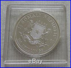Somalia Elephant 2007 1 oz Silver coin 100 shillings & CoA fabulous Elefant