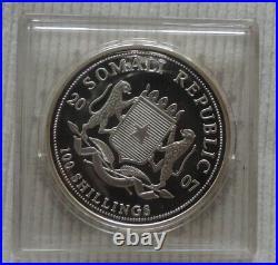 Somalia Elephant 2007 1 oz silver Fabulous coin & CoA African Wildlife Elefant