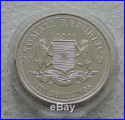 Somalia Elephant 2008 1 oz silver Gold Gilded coin 100 shillings Somali Elefant