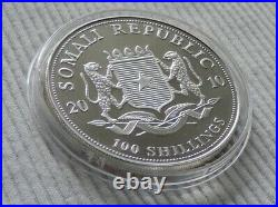 Somalia Elephant 2010 1 oz silver Gold Gilded coin African Wildlife Elefant
