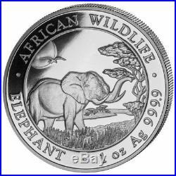 Somalia Elephant 2019 100 Shillings 1 OZ (31,1 gr.) Argento 999 Silver Coin