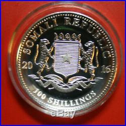 Somalia-Somali 100 Shillings 2016 African Wildlife Elephant #F3052 High