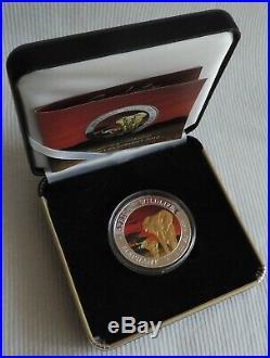 Somalia Sunset Elephant 2015 1 oz silver gold gilded coin & CoA in box Elefant