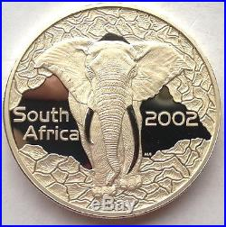 South Africa 2002 Elephant 2.27oz Silver Coin, Proof